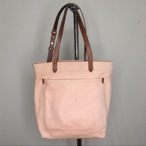 Madewell medium transport tote in pink canvas